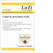Codul de procedura civila. Cod 616. (Traian Cornel Briciu) Editie actualizata 23. 08. 2016