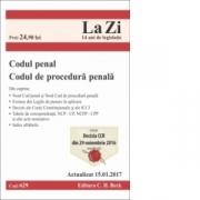 Codul penal si Codul de procedura penala. Cod 629. Actualizat la 15. 01. 2017