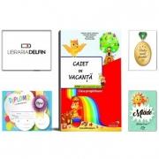 Pachet DZC: Caiet de vacanta pentru clasa pregatitoare - Editura Joy, Miade (Contribuie la cresterea fluentei in citire) Diploma si Medalie.
