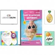 Pachet DZC: Caiet de activitate independenta, pentru clasa I, Delta Cart. Miade (Contribuie la cresterea fluentei in citire) Diploma si Medalie.