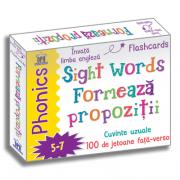 Sight words. Formeaza propoziti. Jetoane limba engleza - Fran Bromage