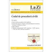 Codul de procedura civila. Cod 699. Actualizat la 5. 09. 2019