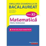 Simularea examenului de bacalaureat. Matematica. Clasa a XI-a. Profil tehnologic. 30 de de teste, dupa modelul M. E. N. - Lucian Dragomir - Ed. Paralela 45