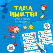 Tabla inmultirii. Scrie si sterge. Fise refolosibile