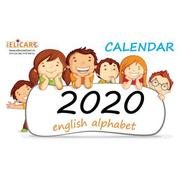 Calendar 2020. English alphabet