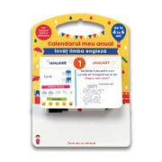 Calendarul meu anual. Invat limba engleza, de la 4 la 6 ani - Sandra Sarah Krief