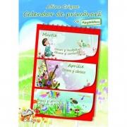 Calendar de primavara cu abtibilduri, auxiliar pentru clasa I - Adina Grigore