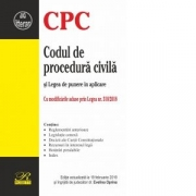 Codul de procedura civila si Legea de punere in aplicare. Editie actualizata la 19 februarie 2019 - Evelina Oprina