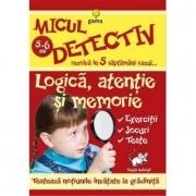 Micul detectiv rezolva in 5 saptamani cazul - Logica, atentie si memorie 5-6 ani
