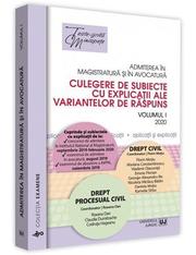 Admiterea in magistratura si in avocatura. Vol. I – Drept civil, Drept procesual civil 2020 - Florin Motiu si altii
