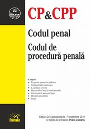 Codul penal. Codul de procedura penala. Editia a 20-a actualizata la 17 septembrie 2019 - Petrut Ciobanu