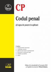Codul penal. Editia a 8-a actualizata la 8 ianuarie 2020 - Petrut Ciobanu