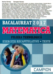 Bacalaureat 2017 Matematica. Filiera tehnologica