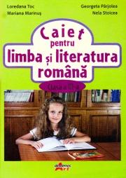 Caiet pentru limba si literatura romana pentru clasa a III-a