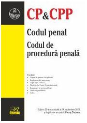 Codul penal. Codul de procedura penala. Editia a 22-a actualizata la 14 septembrie 2020 - Petrut Ciobanu