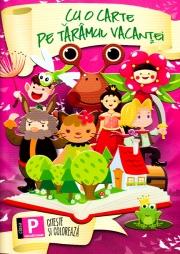 Cu o carte pe taramul vacantei - citeste si coloreaza, pentru clasa pregatitoare