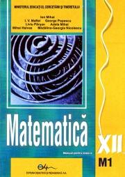 Manual matematică M1 - clasa a XII-a