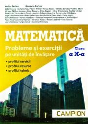 Matematica clasa a X-a. Probleme si exercitii pe unitati de invatare
