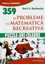 Matematica recreativa-359 de probleme.Puzzle-uri celebre de  Boris A. Kordemsky