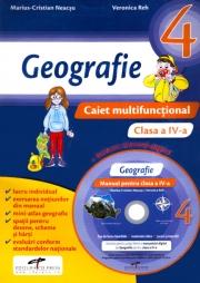 Caiet multifunctional. Geografie pentru clasa a IV-a + Manual digital