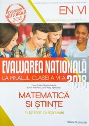 Evaluare Nationala 2018 pentru clasa a VI-a - Matematica si stiinte