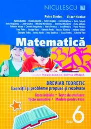 Matematica - clasa a VI-a. Breviar teoretic cu exercitii si probleme propuse si rezolvate