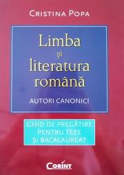 Limba si literatura romana - autori canonici