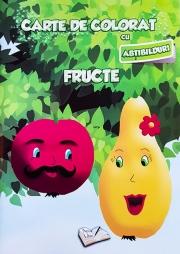 Carte de colorat cu abtibilduri. Fructe.