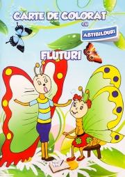 Carte de colorat cu abtibilduri. Fluturi