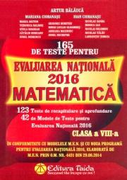 Matematica 165 de teste pentru Evaluare Nationala 2016