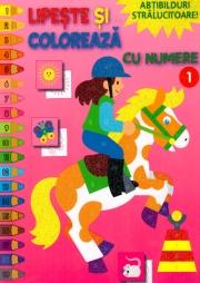 Lipeste si coloreaza cu numere 1