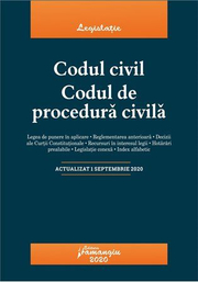 Codul civil. Codul de procedura civila. Actualizat la 1 septembrie 2020