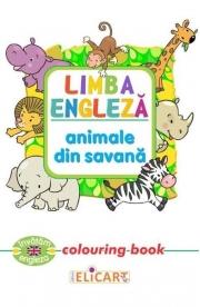 Limba engleza: Animale din savana (Colouring Book)