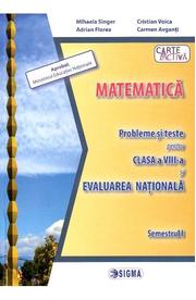 Evaluare nationala. Matematica - Clasa 8 Sem. 1 - Probleme si teste - Mihaela Singer