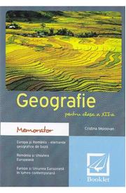 Memorator de geografie - Clasa 12 - Cristina Moldovan