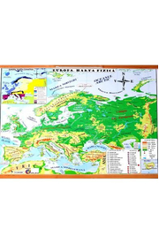 Harta Fizica a Europei. Harta Politica a Europei