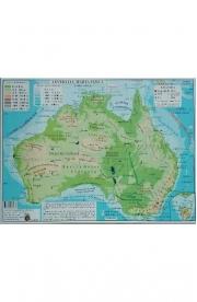 Africa si Australia - Harta Fizica A3