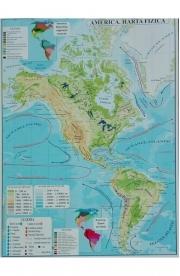 America - Harta Fizica si Harta Politica A3