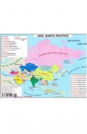 Asia - Harta Fizica si Harta Politica 1-46. 000. 000 (pliata)