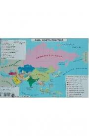 Asia - Harta Fizica si Harta Politica A3