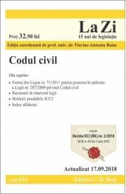 Codul civil. Actualizat 17. 09. 2018