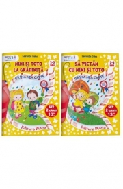 Set 2 Carti 2-3 ani Mimi si Toto - Laurentia Culea